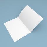 Spatie gevouwen vlieger, boekje, prentbriefkaar, adreskaartje of brochure vector illustratie