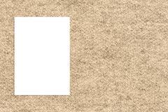 Spatie het gevouwen document affiche hangen op doekmuur, Malplaatjespot omhoog Stock Afbeeldingen