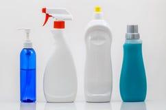 02-spatie van huishouden de Schoonmakende Flessen Stock Afbeelding