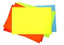 Spatie van kleurendocument stock foto