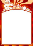 Spatie van menu Stock Foto's