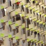 Spaties voor sleutels. Stock Foto