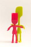 Spatola della spazzola degli aggeggi della cucina Immagine Stock