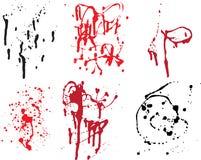 spatter συλλογής grunge Στοκ εικόνες με δικαίωμα ελεύθερης χρήσης