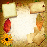 Spatter Collage. A vintage collage with paper scraps and spattered paint Vector Illustration