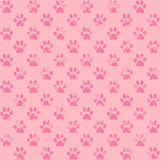 Spattered paw prints in pink Royalty Free Stock Images