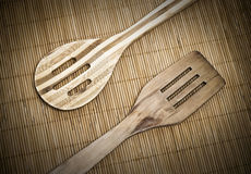 spatula κουτάλι ξύλινο Στοκ Φωτογραφία