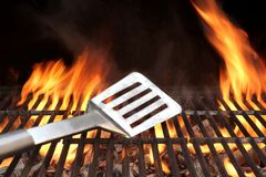 Spatula on the Barbecue Grill Royalty Free Stock Image