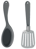 Spatula and ladle Royalty Free Stock Photo