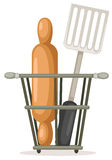 Spatula and rolling pin Royalty Free Stock Photos