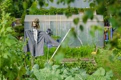 Spaventapasseri nel giardino Immagini Stock Libere da Diritti