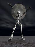 Spavento di scheletro di Halloween Immagini Stock