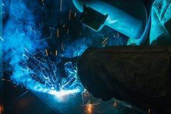 Spawacz metalu spaw Obraz Stock