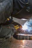 Spawacz spawek drymby dla benzynowej instalaci Obraz Royalty Free