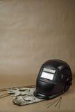 Spawalnicza maska z rękawiczkami Obrazy Stock