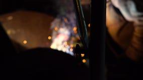 Spawalnicze żelazo iskry zbiory wideo