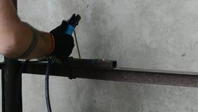 Spawalniczy łuki i spawacz zdjęcie wideo