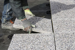 Spławowe betonowe płytki Zdjęcie Royalty Free