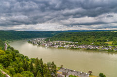 Spay at the Rhine River, Germany Stock Photos