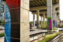 Spazi pubblici urbani poco usati di ravvivamento fotografie stock libere da diritti