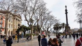 Spaziergangsboulevard Barcelona Stockfotografie