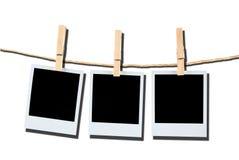 Spazii in bianco della pellicola del Polaroid Immagine Stock