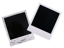 Spazii in bianco della pellicola del Polaroid Immagini Stock