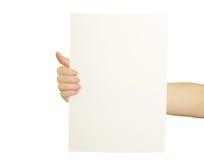 Spazii in bianco della scheda disponibili Fotografia Stock