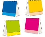 Spazii in bianco per i calendari da tavolino Immagini Stock Libere da Diritti