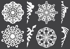 Spazii in bianco per il taglio dei fiocchi di neve del ` s del nuovo anno Fotografia Stock Libera da Diritti