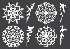 Spazii in bianco per il taglio dei fiocchi di neve del ` s del nuovo anno da carta, per creatività, decorazione, decorazione dell Fotografia Stock Libera da Diritti