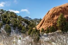 Spazio aperto rosso Colorado Springs del canyon della roccia Immagini Stock