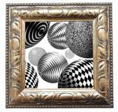 Spazio astratto con le sfere rotonde Fotografie Stock Libere da Diritti