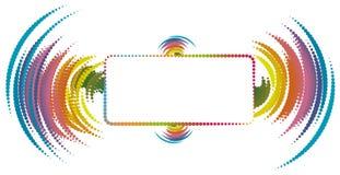 Spazio astratto della copia con gli elementi dell'onda sonora Immagini Stock