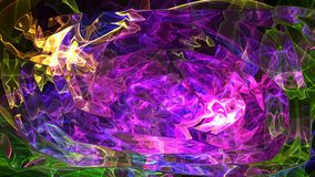 Spazio astratto variopinto dei cuori del fondo, universo Fotografia Stock Libera da Diritti