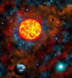 Spazio, astronomia e spazio Immagini Stock
