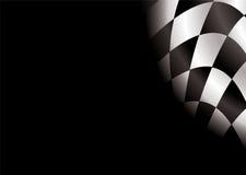 Spazio in bianco Checkered Immagine Stock