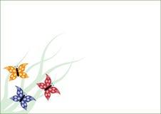 Spazio in bianco con le farfalle di volo Fotografie Stock Libere da Diritti