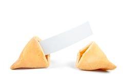 Spazio in bianco del biscotto di fortuna Fotografia Stock