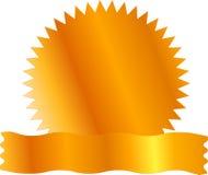 Spazio in bianco del contrassegno di Certicate dell'oro Fotografia Stock Libera da Diritti