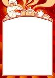 Spazio in bianco del menu Fotografie Stock