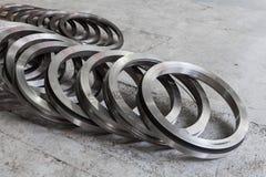 Spazio in bianco del metallo - un anello della turbina immagine stock libera da diritti