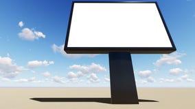 Spazio in bianco del tabellone per le affissioni per il manifesto all'aperto di pubblicità illustrazione di stock