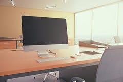 Spazio in bianco del visualizzatore del computer Immagini Stock Libere da Diritti