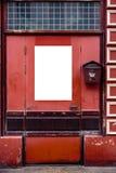 Spazio in bianco dell'annuncio su un muro di cemento nella via fuori immagine stock libera da diritti