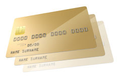 Spazio in bianco della carta di credito illustrazione di stock