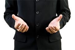 Spazio in bianco della holding della mano dell'uomo d'affari Fotografia Stock Libera da Diritti