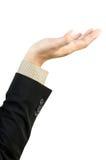 Spazio in bianco della holding della mano dell'uomo d'affari Fotografie Stock Libere da Diritti