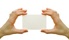 Spazio in bianco della scheda Fotografia Stock Libera da Diritti