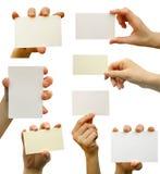 Spazio in bianco della scheda Fotografia Stock